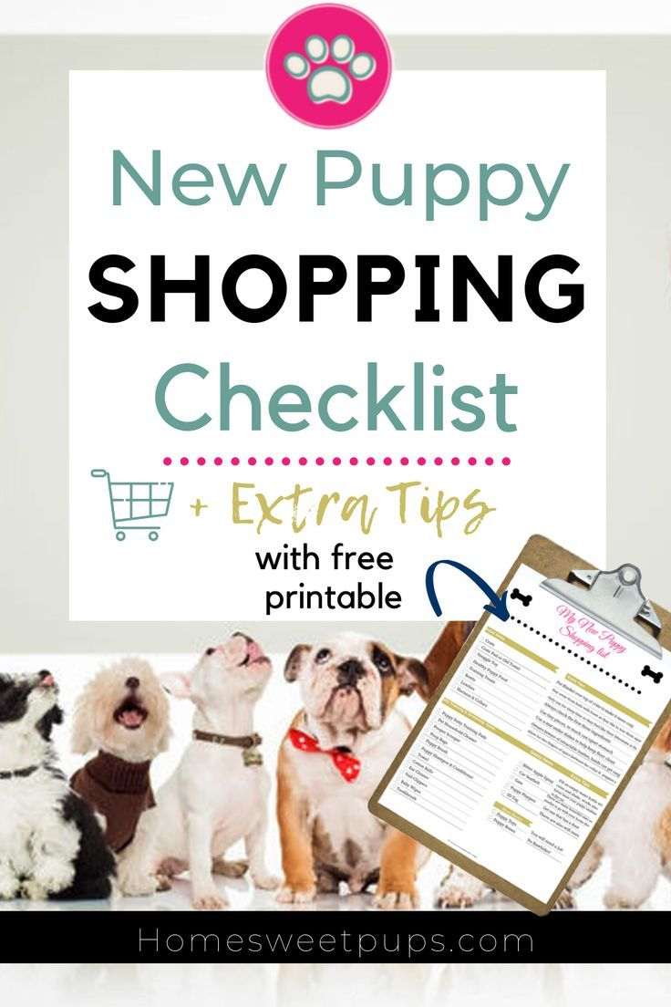 Free New Puppy Shopping Checklist And Extra Tips With Free Printable New Puppy Shopping Checklist Puppies