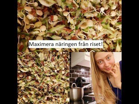 """Hur jag """"tillagar"""" ris+ recept på enzymrik ris sallad (så himla god!) - YouTube"""