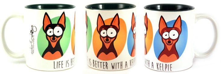 ColorFunDogs mug  #colorfundogs #mug #kelpie