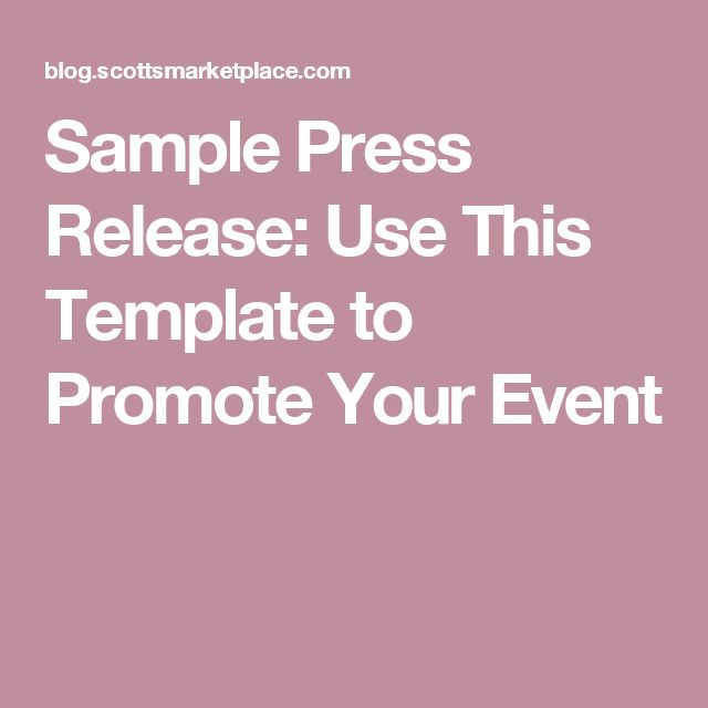The 25+ best Press release sample ideas on Pinterest Public - press release template