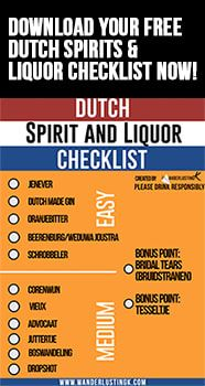 A free Dutch liquor list with traditional drinks from the Netherlands to try during your trip to Amsterdam. Click for the best drinks in the Netherlands!