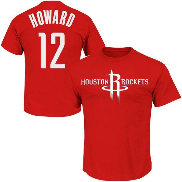 Majestic Dwight Howard Houston Rockets Player T-Shirt - Red - $11.99