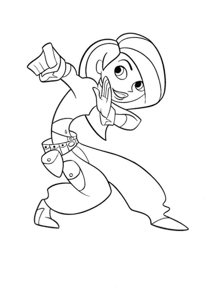 13 best Kim Possible Coloring Pages images on Pinterest Kids net