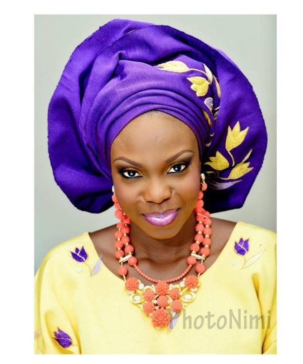purple and yellow colour combination for nigerian wedding