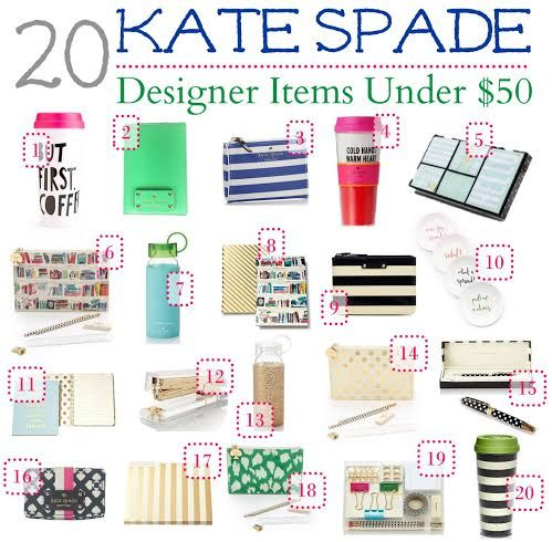 Kate Spade 20 Designer Items Under 50 Fashion Style Pinterest And