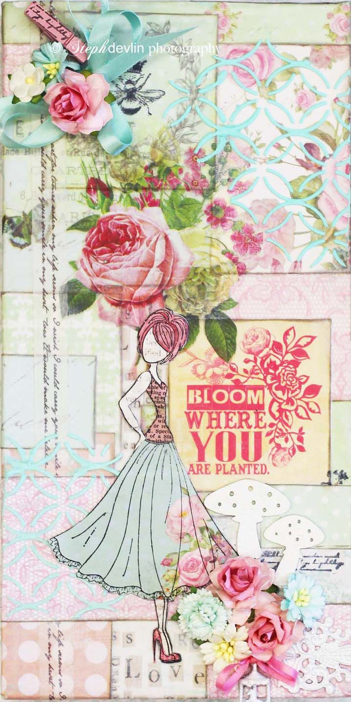 Scrapbook paper australia - My Couture Canvas That I Am Teaching On The Weekend In Adelaide Australia