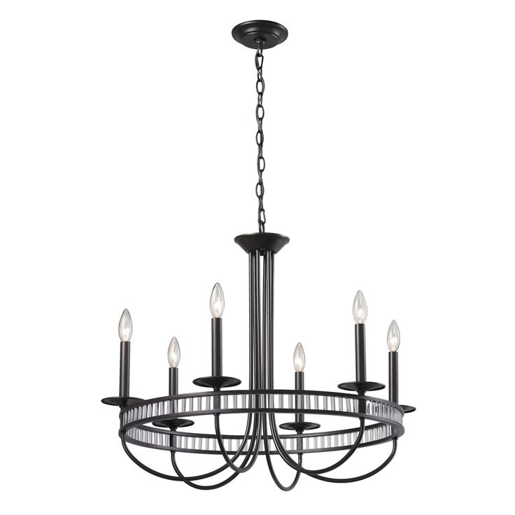 Elk Lighting Braxton 6 Light Aged Bronze Chandelier