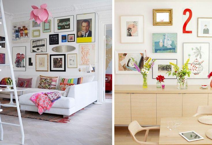 Les 25 meilleures id es de la cat gorie chambouler sur for Decorer un mur avec des cadres photos