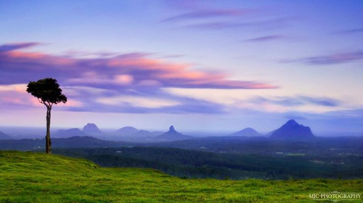 Glasshouse Mountains from Maleny QLD.