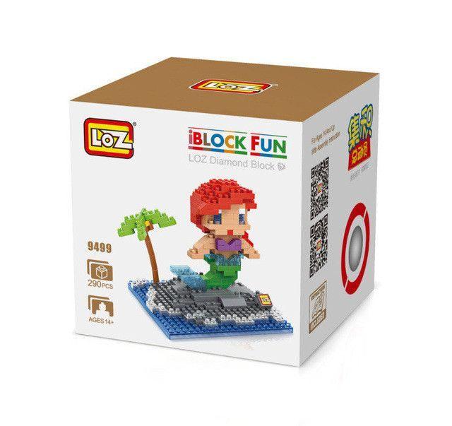 LOZ Princess Ariel Elsa Anna Olaf Toy Doll Building Block Model Decoration