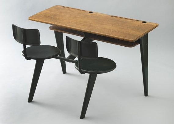 jean prouvé school desk, via moma.org