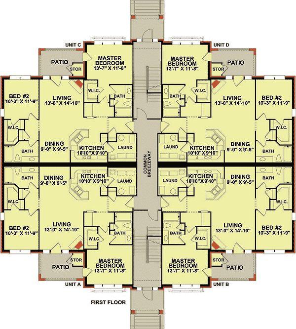 Plan 83117DC: 3 Story 12 Unit Apartment Building ...