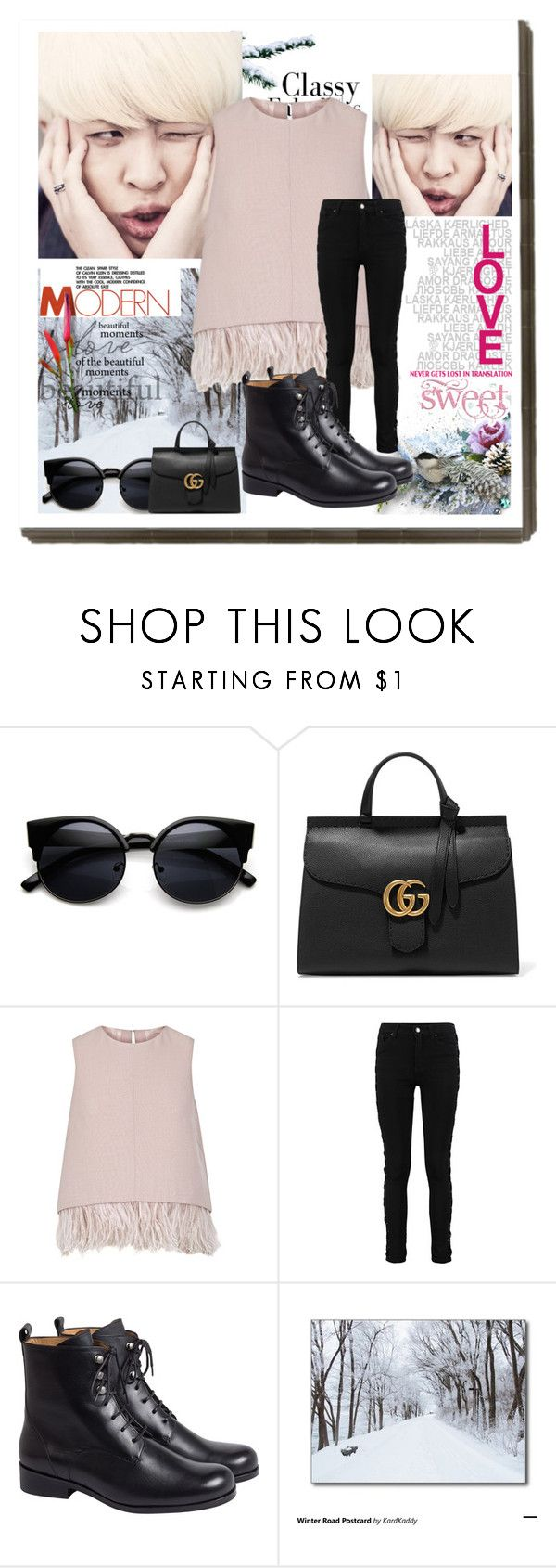 """"""".186"""" by i-love-louis-thetommo-tomlinson on Polyvore featuring Gucci, The 2nd Skin Co., women's clothing, women's fashion, women, female, woman, misses and juniors"""