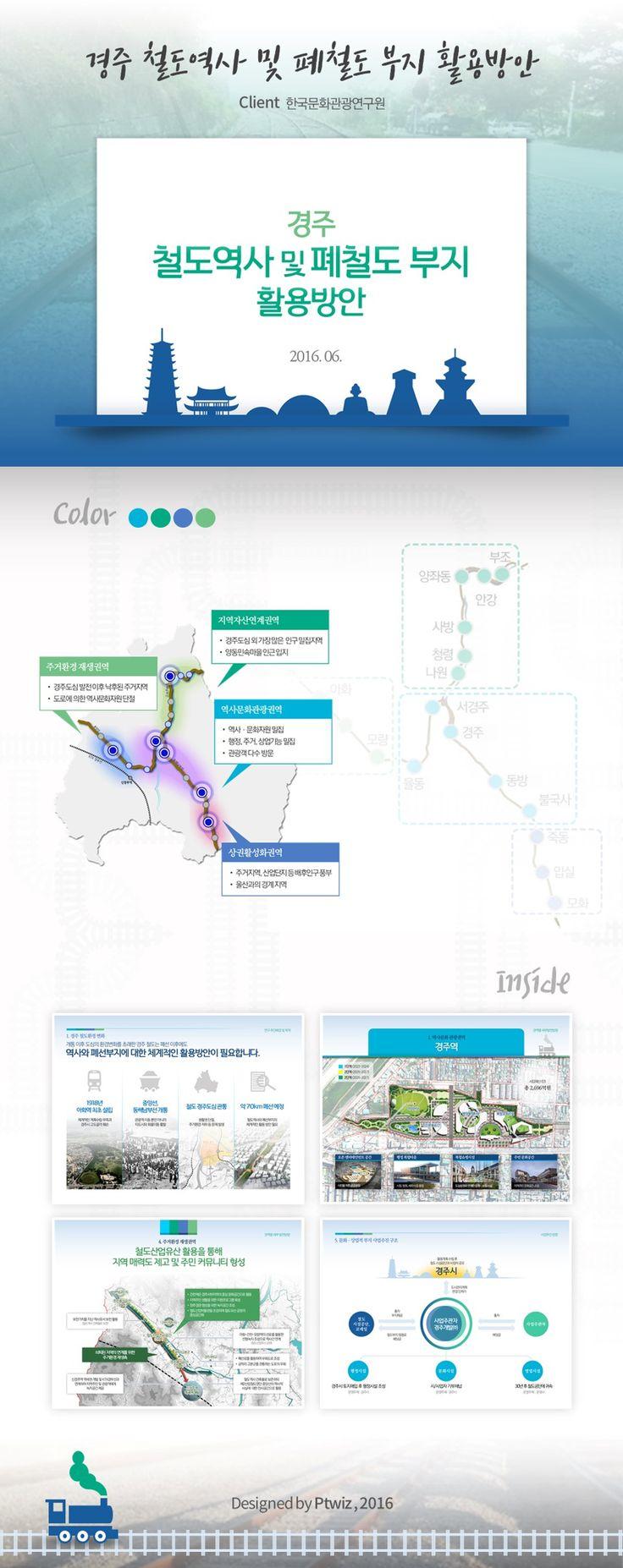 경주 철도부지 활용방안 / Presentation Design by PTWIZ / Client : 한국문화관광연구원
