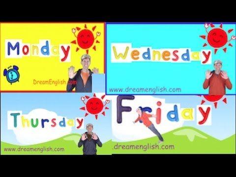 ▶ Weekday Songs: Monday, Tuesday, Wednesday, Thursday, Friday - YouTube