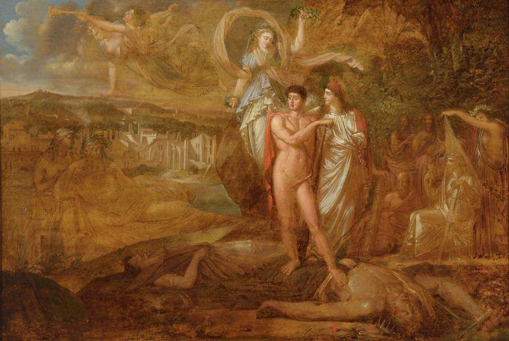 La Rebellion lyonnaise terrassée par le génie de la Liberté, Philippe-Auguste Hennequin, esquisse, 1794. Acquis par le musée en 2014.