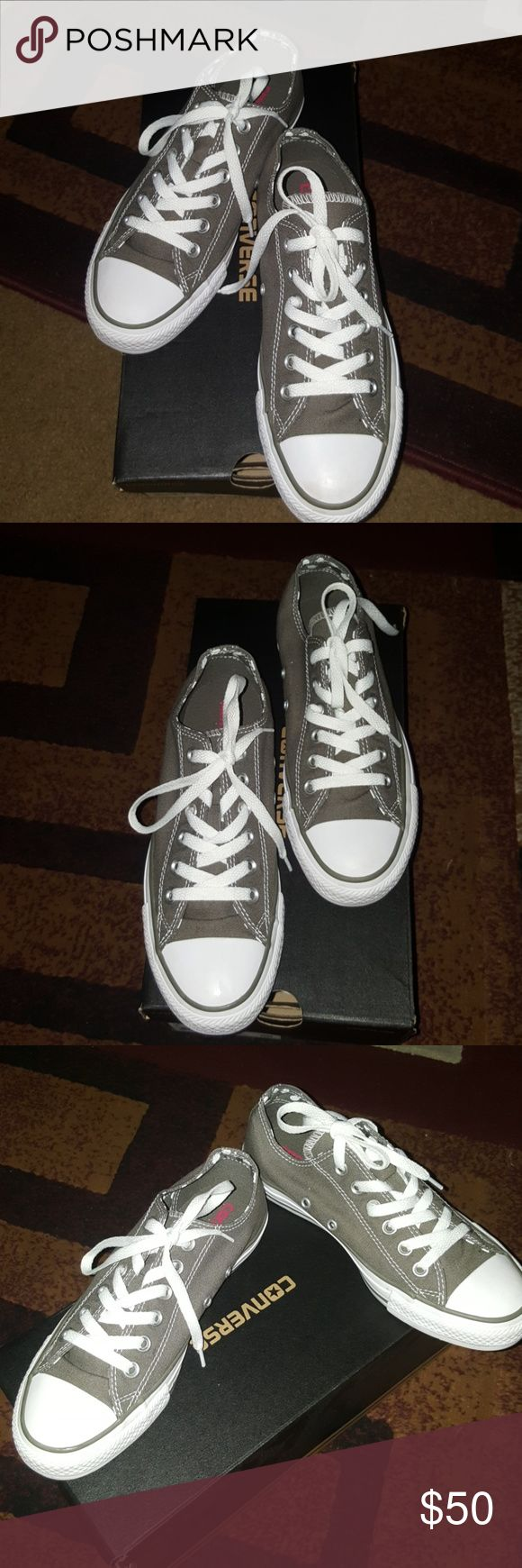 🔔FLASH SALE Women's  Converse Women's Converse Like New Color Charcoal/White  In great condition  Used only once and kept it in the box since Has a nice polka dots design  to it No rips No stains  No holes No rips Odor Free  Make me an offer Converse Shoes Sneakers