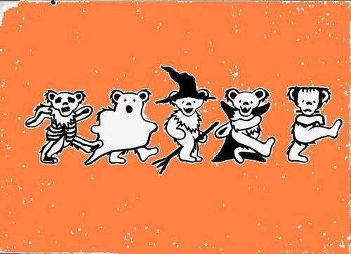 halloween grateful dead bears :D