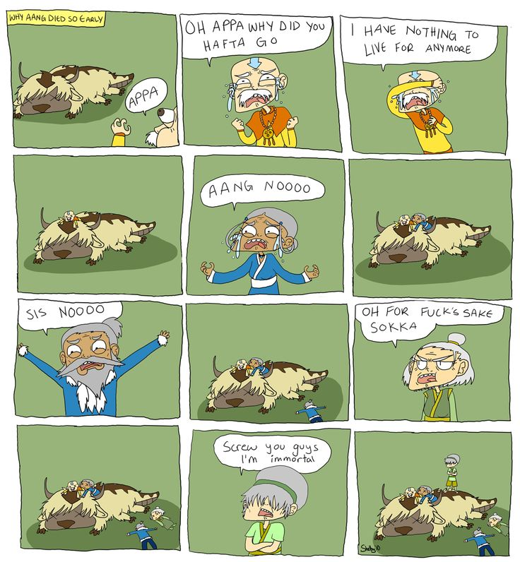 why aang died so early by Skittlemonkey Avatar The