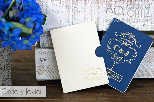 Invitaciones de boda tipo pasaporte /invitaciones de boda / wedding invitations
