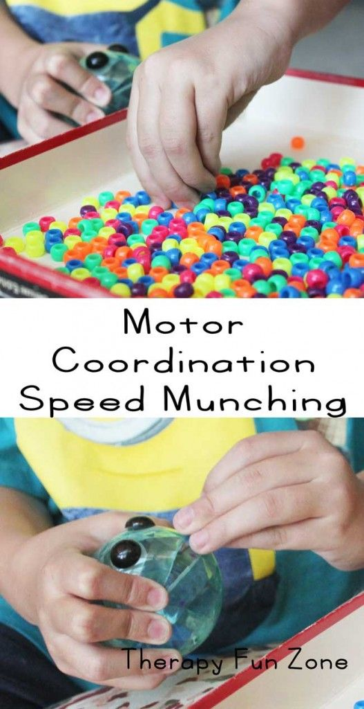 Speed Munching.  You work on fine motor skills, but another aspect of motor ability is the speed of the motor response.