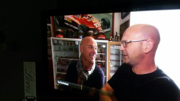 Sip met Rob Kamphues, met Ferrari verzameling, was te zien op Ziggo sport.