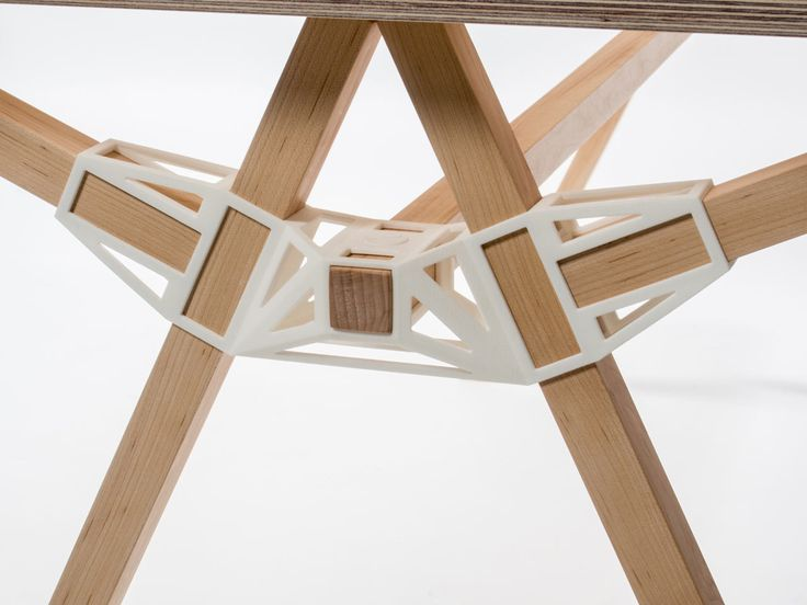 Keystones is a 3D printed connector that holds together various components of a piece of furniture so that it can be assembled with minimal tools.