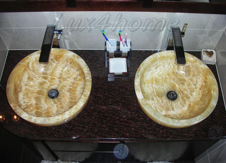 Nablatowe umywalki z onyksu Lux4home™. Stone sinks Lux4home™.