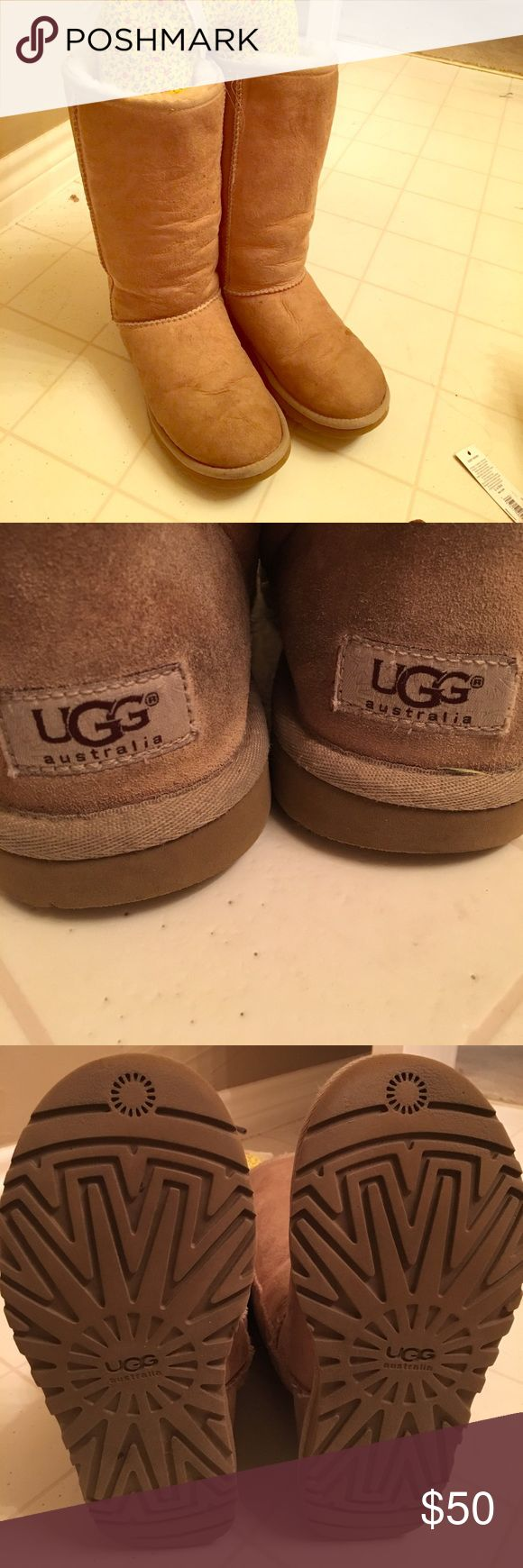 Classic Tall UGG boots - Used - Has a couple of tiny dark spots but nothing noticeable  - Treated with UGG care kit UGG Shoes Winter & Rain Boots