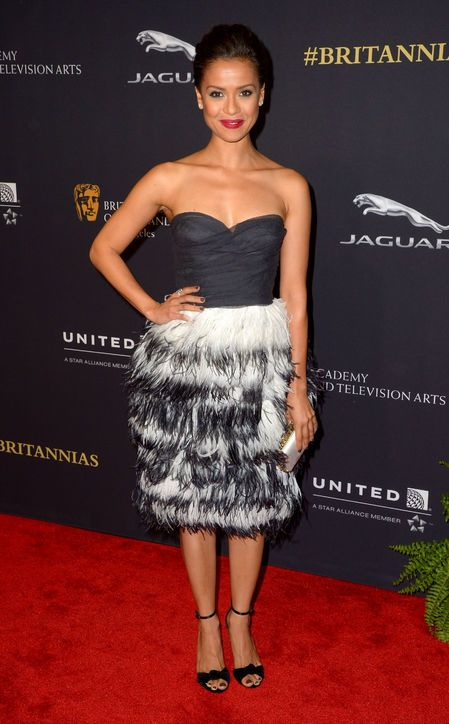Gugu Mbatha-Raw in Burberry