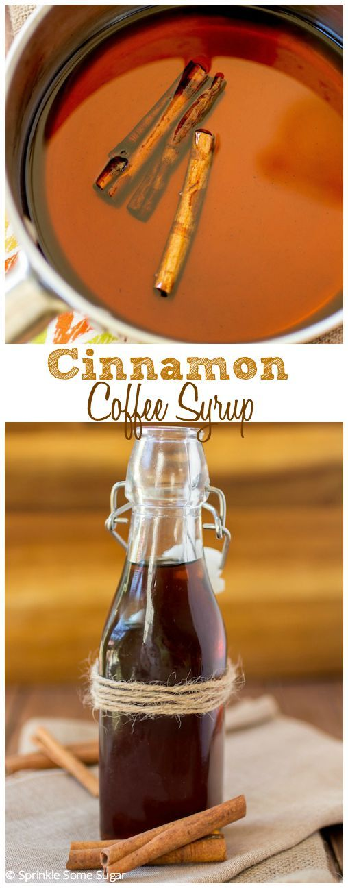 Cinnamon Coffee Syrup. This syrup is absolutely delicious and can be used on just about anything! In coffee, on ice cream, waffles, pancakes - you name it! So good.