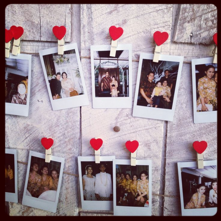 Wedding souvenir - polaroid photos