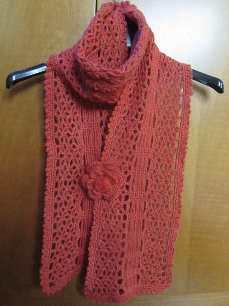 Sciarpa arancio in lana