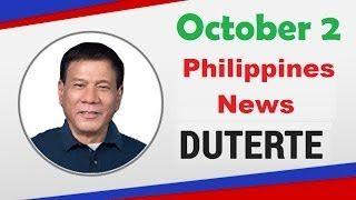 President Duterte Philippines News October 2, 2016 - http://www.dutertenewstoday.com/president-duterte-philippines-news-october-2-2016/
