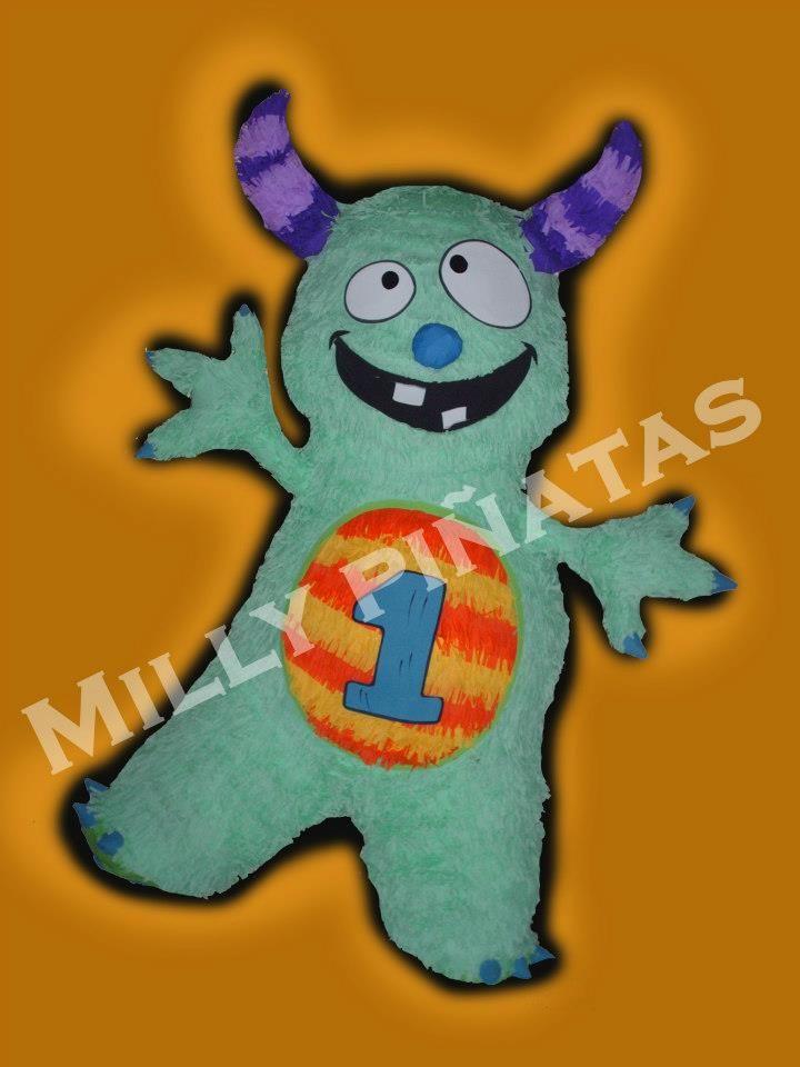 Piñata Monstruo feliz, millypinatas