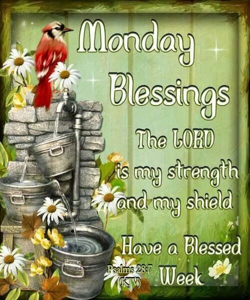 Monday Blessings, The Lord Is My Strength And My Shield monday monday quotes monday blessings monday images monday blessings quotes monday blessing images