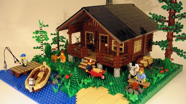 lego city ideas | LEGO® CUUSOO | Log Cabin - Two Seasons!I wish I could live there!!!!!!!!!!!!!!!!!!!!!!!!!!!!!!!!!!!!!!!!!!!!!!!!!!!!!!!!