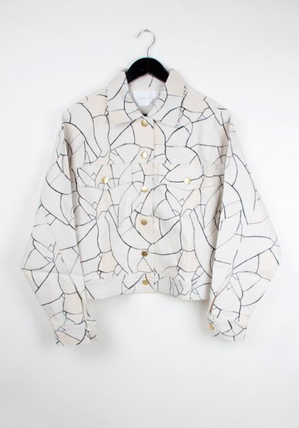 #stinegoya Chandelier Jacket (Atlas print) http://www.allfound-store.com/chandelier-jacket-atlas-print