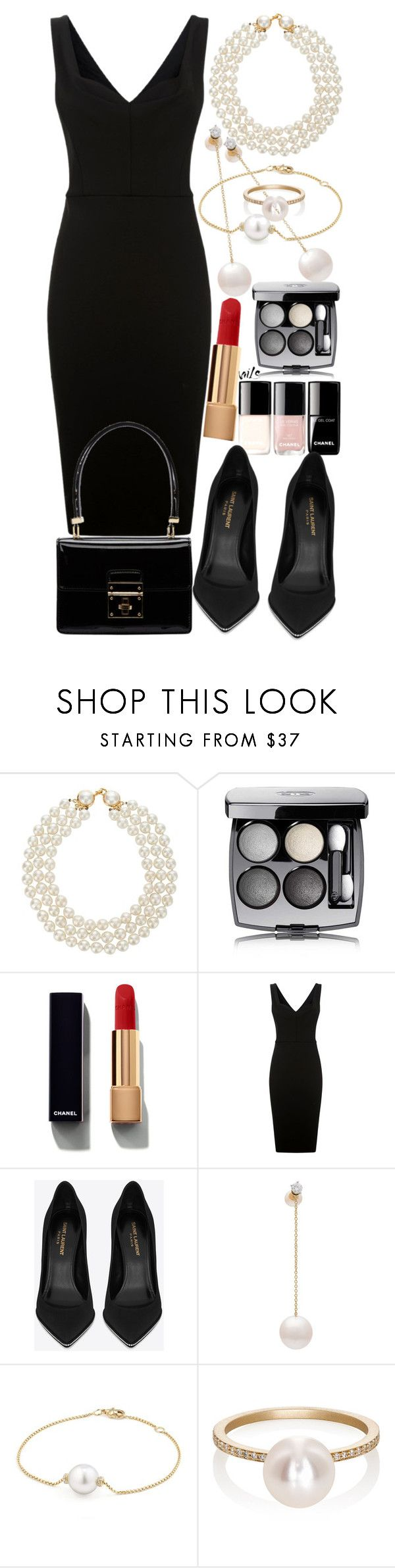 """Chanel in business"" by mariamehau ❤ liked on Polyvore featuring Chanel, Victoria Beckham, Yves Saint Laurent, Delfina Delettrez, David Yurman, Sophie Bille Brahe and Dolce&Gabbana"