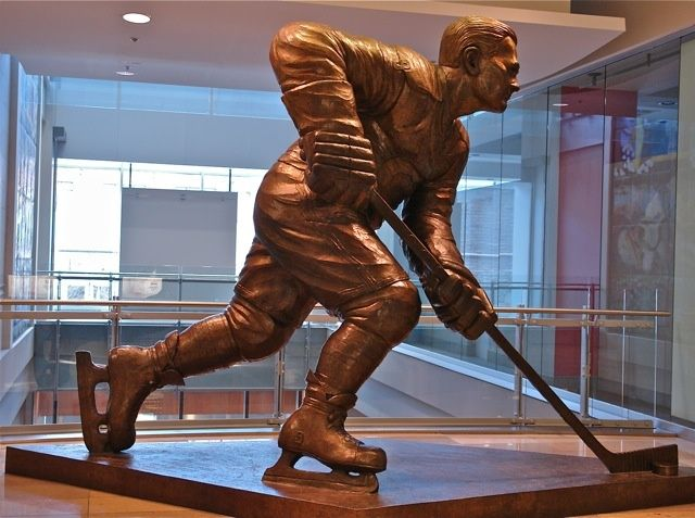 Joueur de hockey Maurice Richard. The number one sport hockey with the Canadian. Photo:T.Graffe