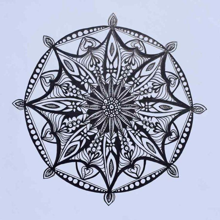 #Impulseearth #Mandala #Zentangle #Art #Miss Miri #Abstract #Meryem Simsek #Yasi #Collaboration #Symmetry #Black&White #B&W
