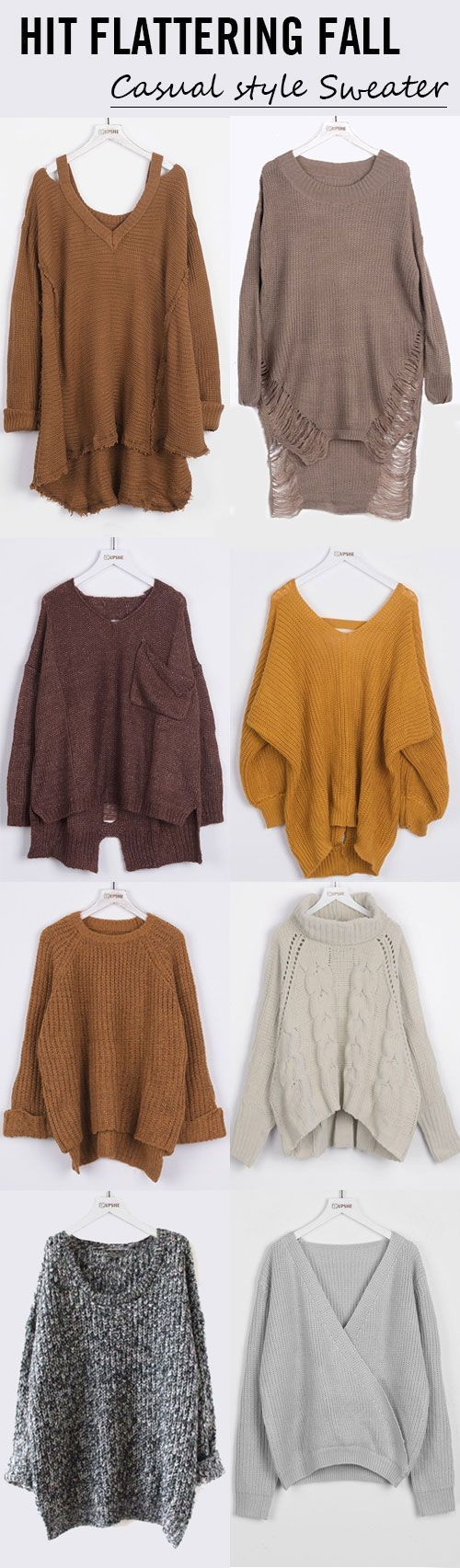 Start from $16.99! Faster shipping! High-quality with low price. This casual, comfy sweater is a total must-have this fall for any fashionista! That style is so in and the color too! Collect more now at Cupshe.com