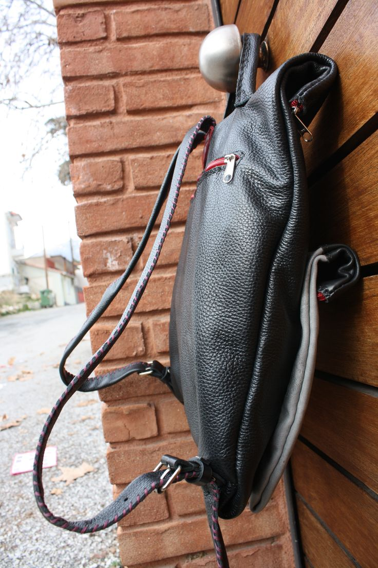 handmade leather backbag by leather crafts anthi