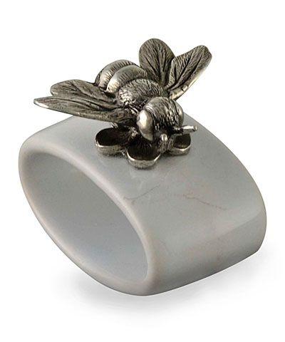 Bee Stoneware Napkin Ring
