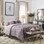 Dorado Antique White Queen Bed Frame