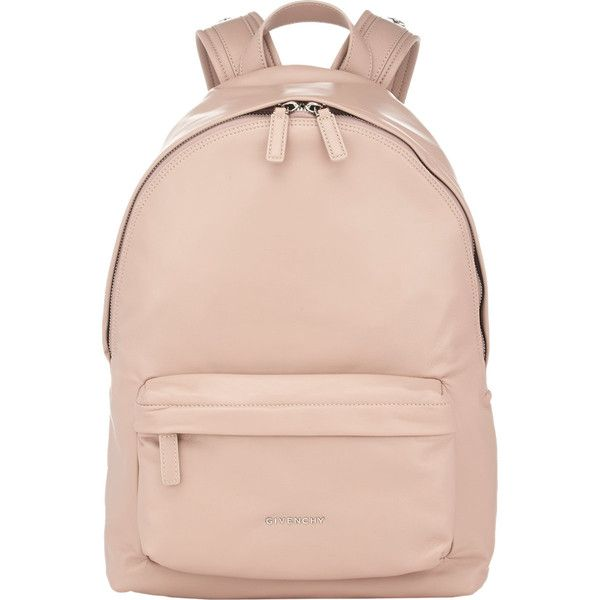 Givenchy Small Backpack found on Polyvore featuring bags, backpacks, accessories, pink, daypacks, star wars bag, strap backpack, pink bag and flat backpack