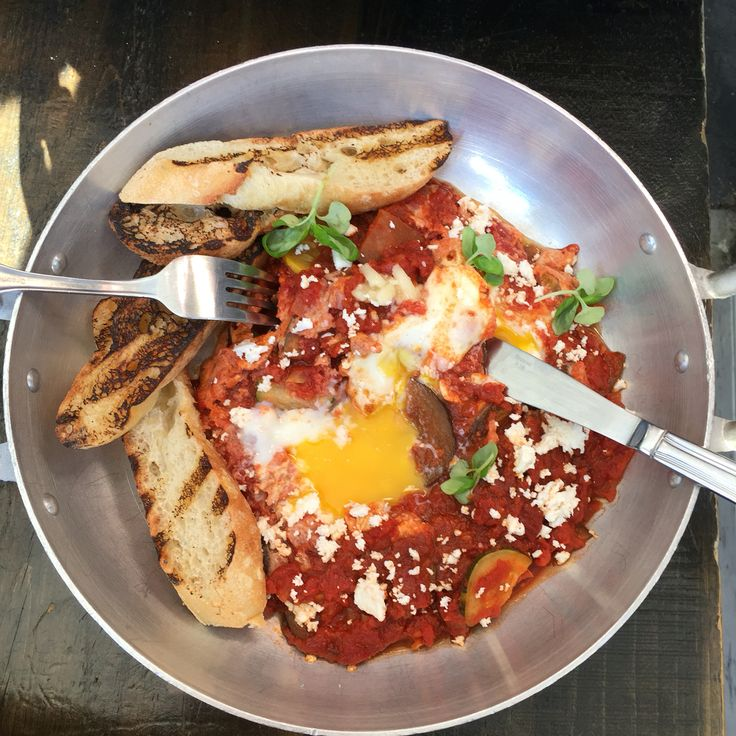 Shakshuka on the best way. Industry Monday brunch.