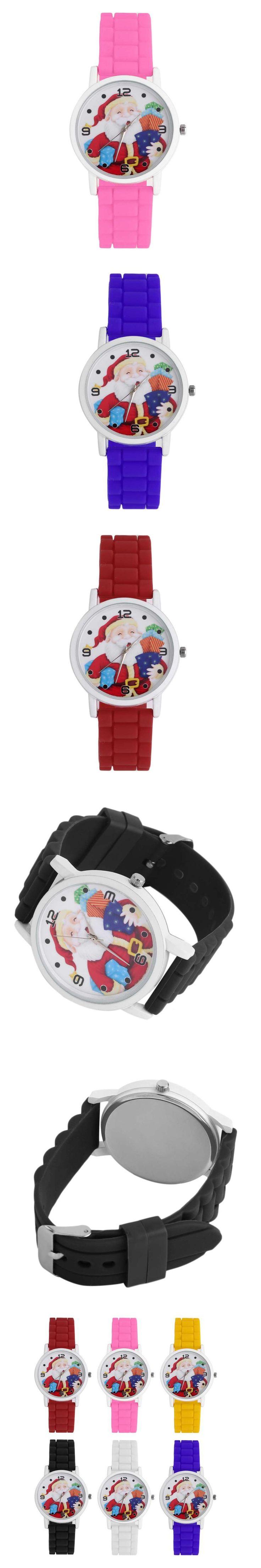 New Arrivals Size 3 Festival Christmas Watch Kids Cute Silica Gel Band Strap Quartz WristWatch Boys Girls Wonderful Gift Watch $2.65