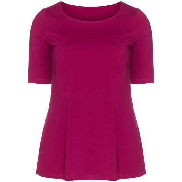 Manon Baptiste Pink Plus Size Fitted jersey t-shirt (255 BRL) ❤ liked on Polyvore featuring tops, t-shirts, pink, plus size, jersey tee, women's plus size tops, womens plus size t shirts, pink top and jersey t shirt