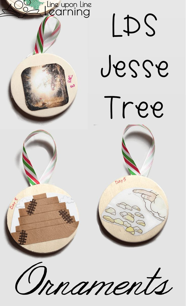 Lds temple ornaments - I Love How My Two Sided Lds Jesse Tree Ornaments Turned Out What A